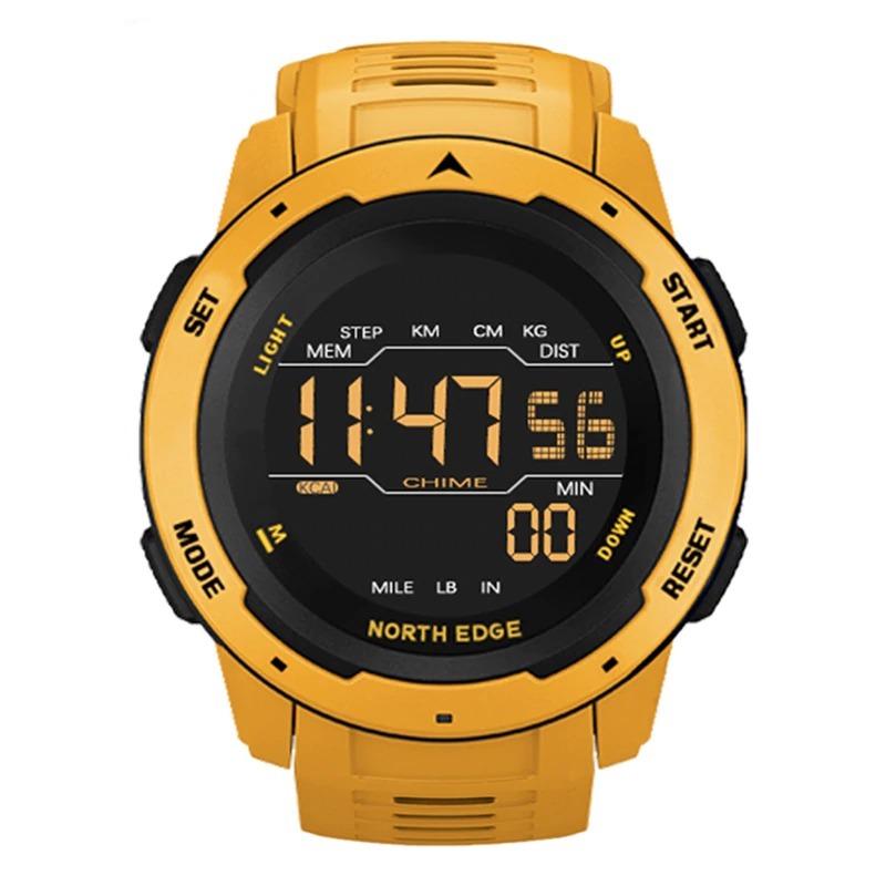 Montre numérique pour homme sport double temps podomètre réveil étanche 50M