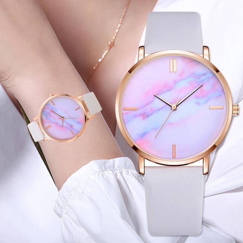 Montre Bracelet avec cadran couleur marbre