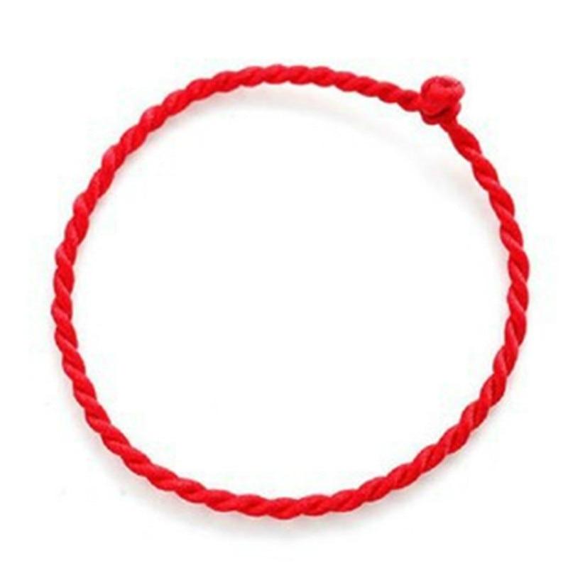Bracelet Fil Chaîne Chanceux Rouge Vert - Bracelet Corde À La Main Bracelet pour Femmes Hommes
