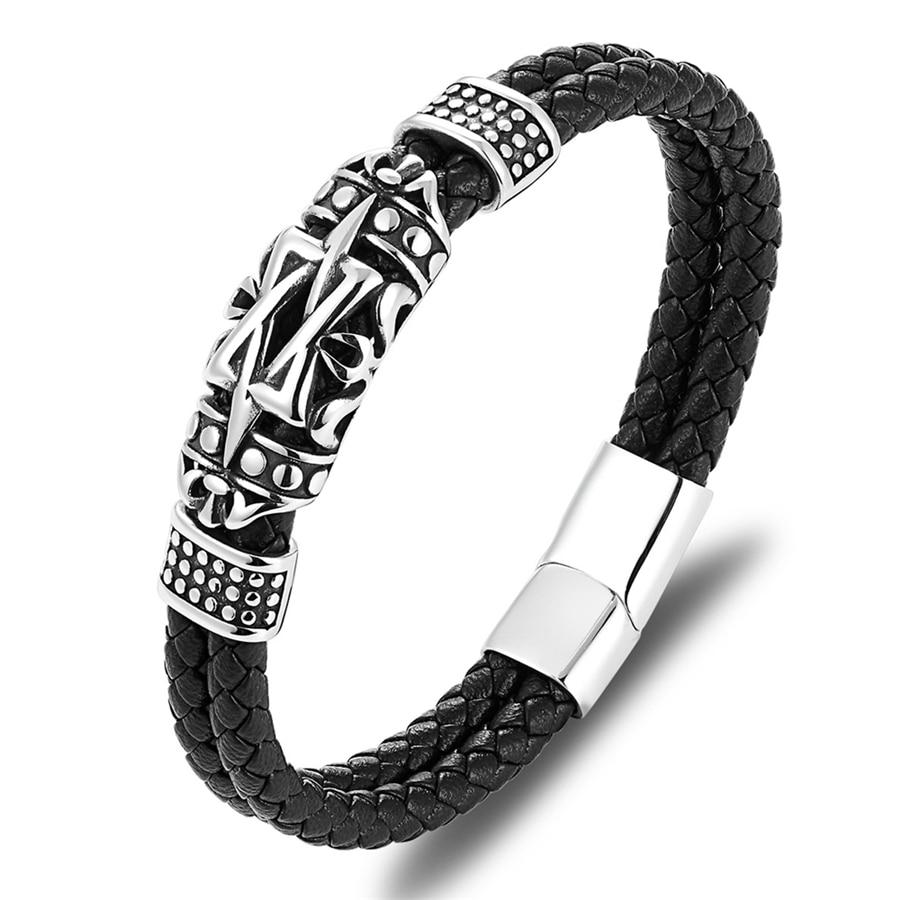 Bracelet style antique totem élégant, petit ornent - Bracelet En Cuir