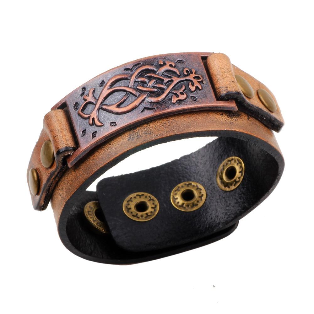 Bracelet en cuir brun Véritable pour Femme/Homme