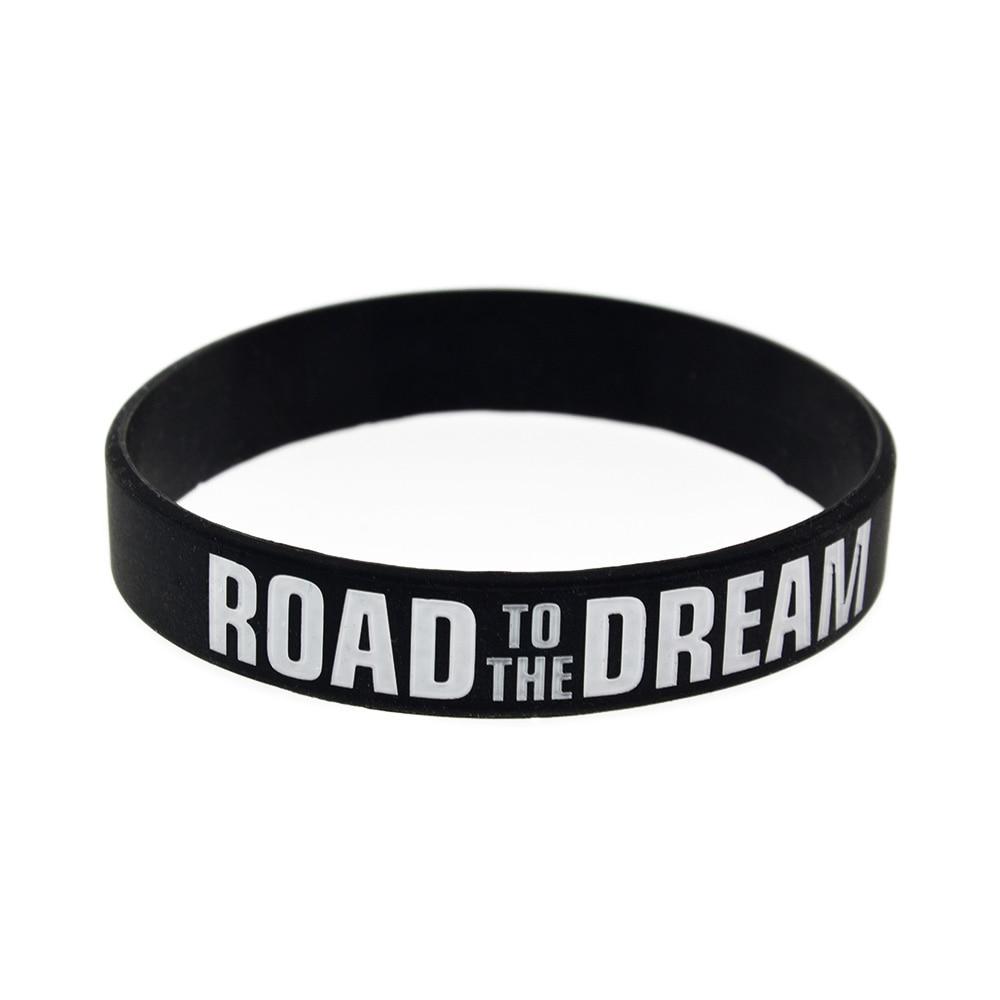 Bracelet silicone avec inscription Route du Rêve