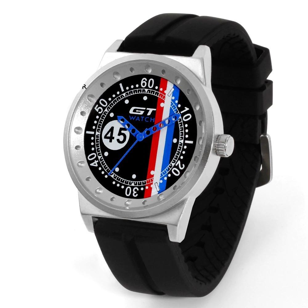 Montre de Sport GT pour hommes, à Quartz et bracelet en Silicone