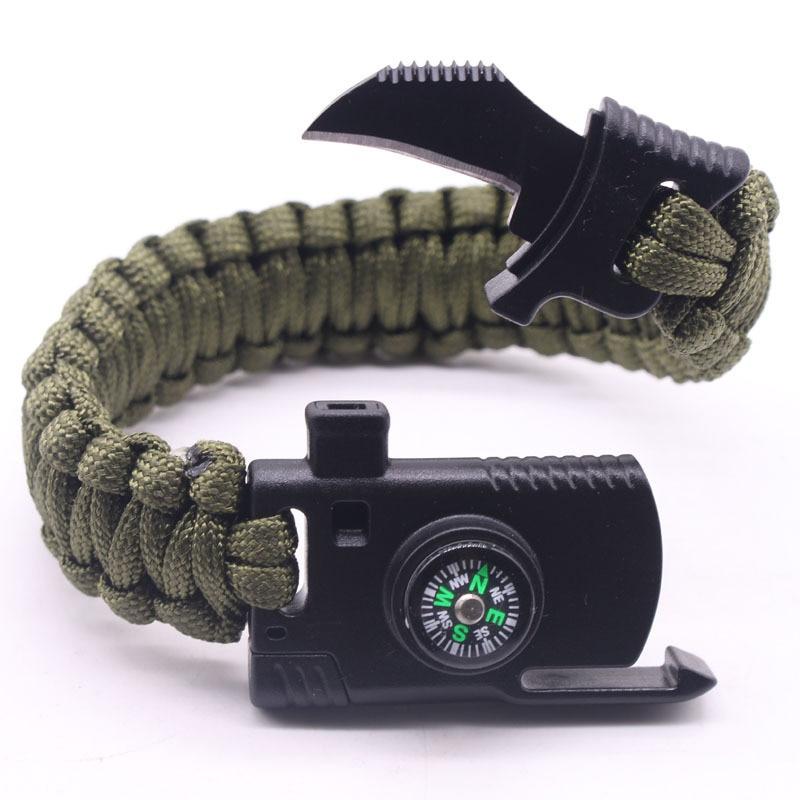 Bracelet paracorde avec couteau - Bracelet de survie avec son couteau