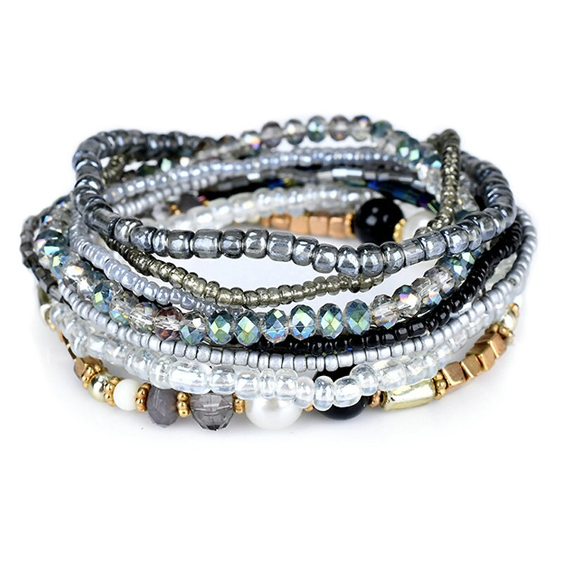 Bracelets pour femme bohème rouge multi-couche