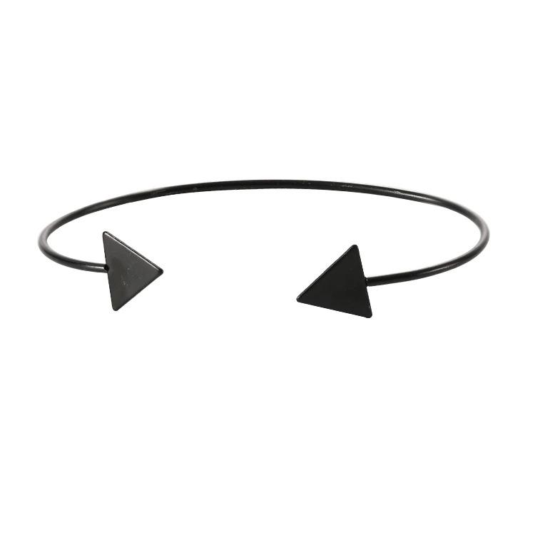 Bracelet pour femmes avec triangle noir/or
