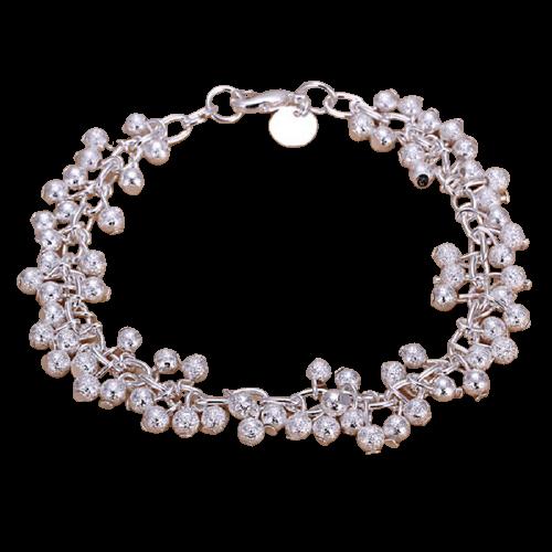 Bracelet de bijoux avec chaîne à billes, un bracelet en argent plaqué
