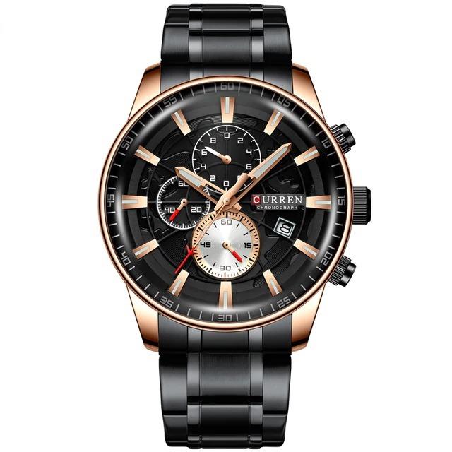 Montre homme chronographe acier