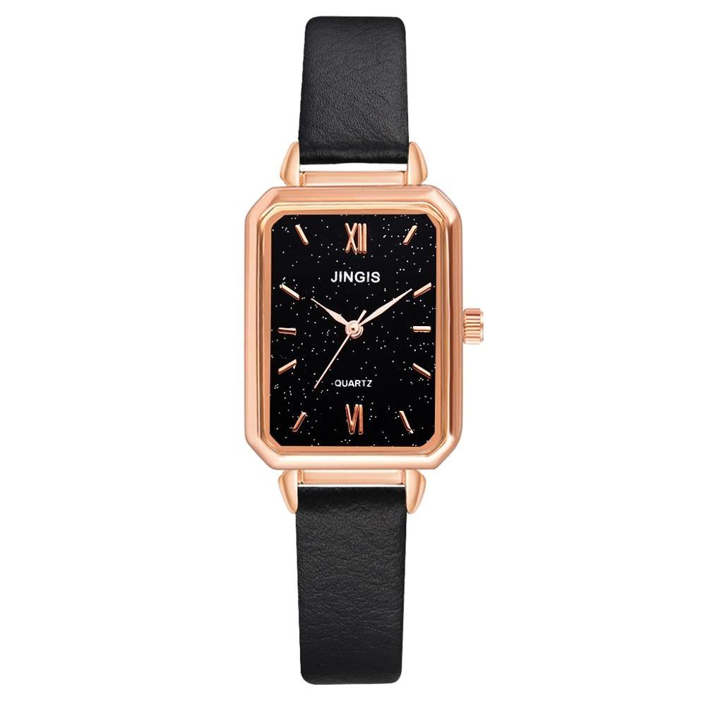 Montre-bracelet à Quartz analogique pour femme avec bracelet en cuir