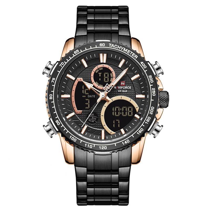Montre-bracelet de sport à grand cadran pour homme chronographe