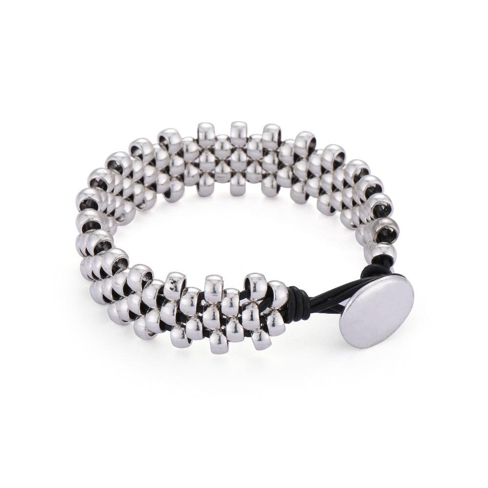 Anslow-Nouveau-Design-Creative-Marque-Top-Qualit-Mode-Bijoux-Strand-Argent-Perles-Bracelet-En-Cuir-Bracelets