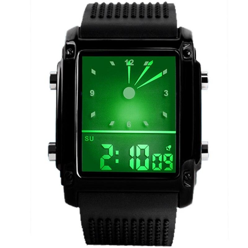Montre-bracelet de Sport pour hommes, numérique à Quartz, rétro-éclairage coloré, 30m