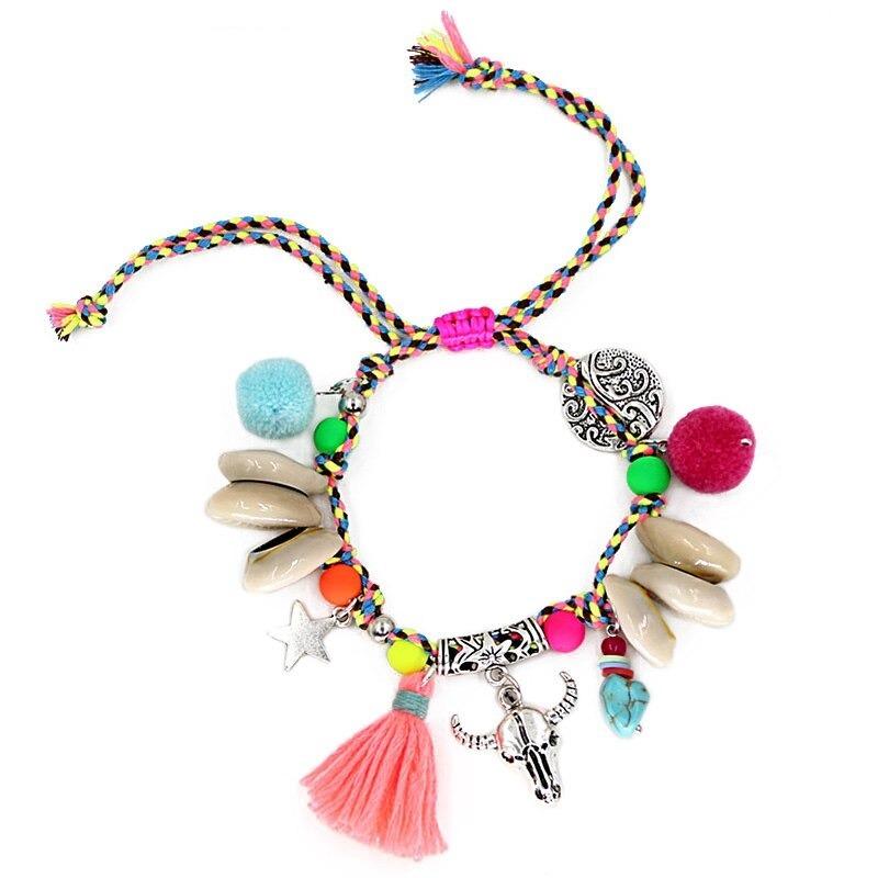 Bracelet de Bohème Coloré Perles et Coquilles