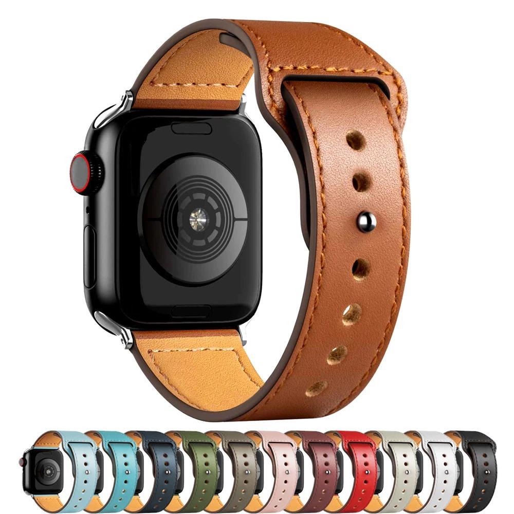 Remplacement bracelet cuir pour montre apple watch
