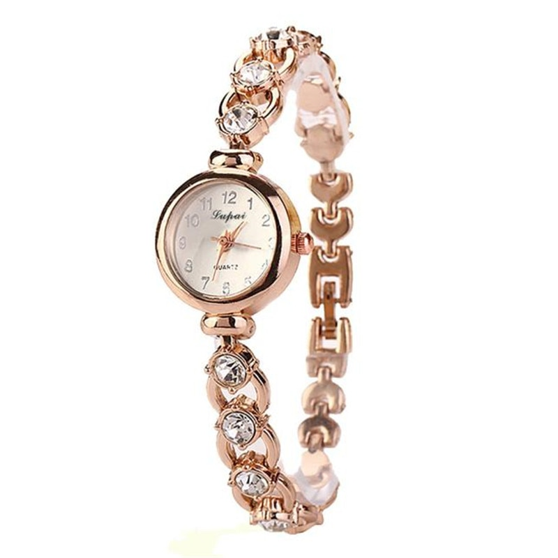 Montre-bracelet pour femme avec Bracelet en strass et son petit cadran