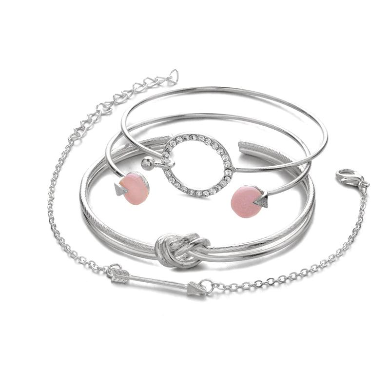 0_4-pi-ces-ensemble-classique-fl-che-noeud-rond-cristal-gemme-multicouche-r-glable-ouvert-Bracelet