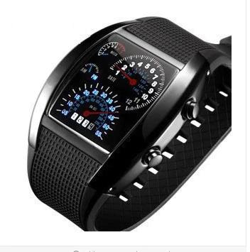 Que diriez-vous d\'une montre à led au design unique ?
