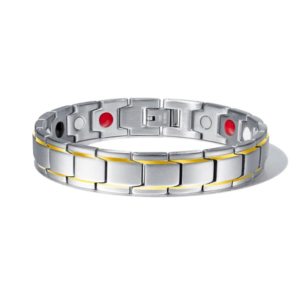 Bracelet homme magnétique hématite
