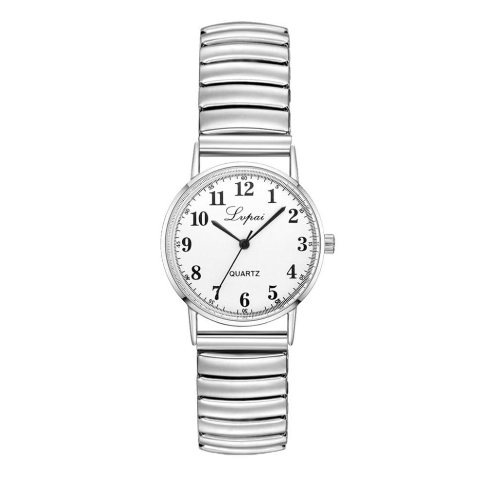 montre classique femme bracelet élastique