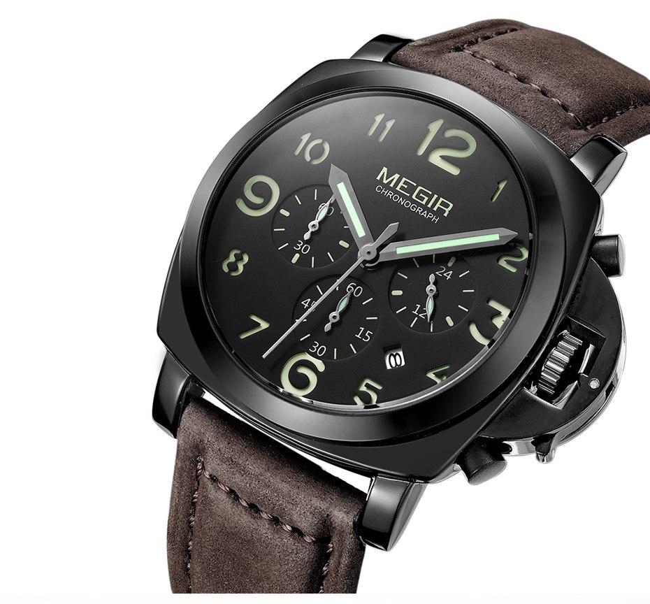 Montre chronographe bracelet cuir