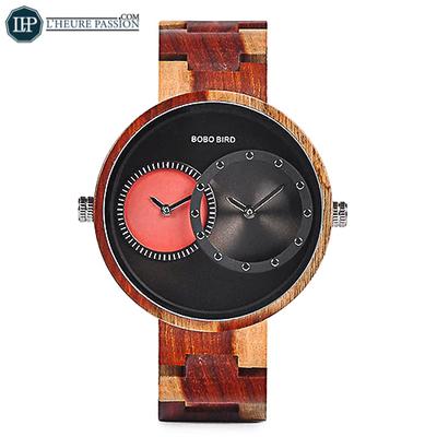 Grosse montre en bois pour homme