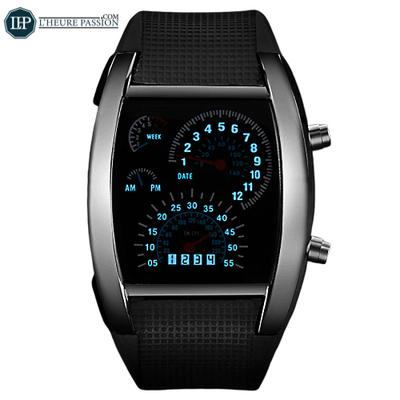 Que diriez-vous d'une montre à led au design unique ?