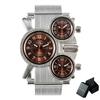 OULM-Unique-cr-atif-montre-Quartz-hommes-maille-bracelet-3-sous-cadrans-Multitude-fuseau-horaire-mode