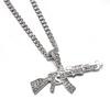 Mode-collier-ras-du-cou-pour-femmes-2020-pistolet-pendentif-cristal-strass-cha-ne-collier-femmes