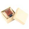 Hommes-femmes-Quartz-montre-en-bois-marron-affichage-analogique-avec-bracelet-en-cuir-bleu-Reloj-Para