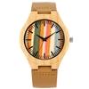 Montres-en-bois-naturel-Ultra-l-ger-montre-en-bois-marron-bracelet-en-cuir-v-ritable