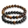 2-pcs-ensemble-Couples-De-Mode-Oeil-de-Tigre-Pierre-Bracelets-Bracelets-Classique-Noir-Blanc-Naturel