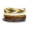 Vnox-4-pcs-ensemble-Noir-Bracelets-pour-Hommes-Bracelet-R-glable-Longueur-Boh-me-Vacances-bijoux