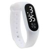 Mode-Hommes-Femmes-Casual-Sport-Bracelet-Montres-Blanc-LED-lectronique-Num-rique-Couleur-De-Sucrerie-de