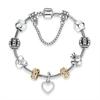 Bracelet-argent-Antique-pour-femmes-bijou-avec-c-ur-de-fleur-perle-de-verre-de-Murano