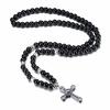 Chapelet-en-pierre-de-cornaline-noire-pour-hommes-collier-de-perles-croix-CRUCIFIX-bijoux-gothiques-masculins