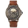 Montre-Quartz-pour-hommes-bracelet-en-cuir-tanche-mode-horloge-Date-nouveau-Cool-squelette-sport
