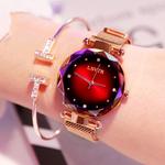 Luxe-or-Rose-femmes-montres-mode-diamant-dames-ciel-toil-aimant-montre-tanche-femme-montre-bracelet
