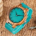 Luxe-Royal-Bleu-montre-en-bois-Haut-montre-quartz-100-Naturel-Bambou-Horloge-d-contract-En