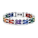 Silicone-Bracelet-En-Acier-Inoxydable-Hommes-Bracelet-Arc-En-Couleur-316L-Fermoir-En-Acier-Inoxydable-Bracelet