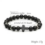 Noir-Pierre-Naturelle-Perles-De-Pierre-De-Lave-Croix-Charme-Bracelets-Bracelets-Pour-Hommes-Bouddha-Bracelets