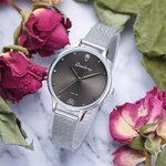Luxe-Femmes-Vert-Cadran-Bracelet-Quartz-Horloge-En-M-tal-De-Mode-Argent-Ceinture-De-Mode