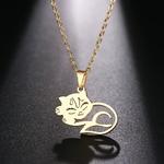 Collier-en-acier-inoxydable-DOTIFI-pour-femmes-chat-dormant-pendentif-couleur-or-et-argent-collier-bijoux