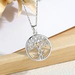 EUDORA-925-argent-Sterling-arbre-de-vie-collier-en-argent-massif-torsad-Rowan-arbre-breloque-avec