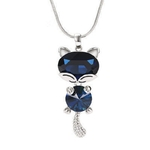 New-Fashion-Blue-Crystal-Fox-Cat-Long-Necklaces-Pendants-For-Women-Simple-Elegant-Trendy-Jewelry-Sweater