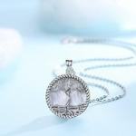 EUDORA-925-argent-Sterling-arbre-de-vie-pendentif-arbre-feuille-d-esse-nacre-collier-Vintage-bijoux