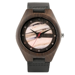 Montre-Quartz-minimaliste-unisexe-en-bois-naturel-avec-bracelet-en-cuir-v-ritable-motif-bambou-Sport