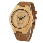Cadran-cr-ne-montres-en-bois-bracelet-en-cuir-Brwon-montre-bracelet-Quartz-horloge-avec-bo