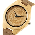 Naturel-en-bois-sculpture-bambou-analogique-Quartz-montre-bracelet-cr-atif-hommes-t-te-de-Lion