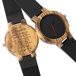 Bracelet-en-cuir-montre-en-bois-bricolage-mots-mon-papa-fils-petit-ami-mari-maman-grav