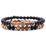 HYHONEY-2-pc-sets-pierre-Naturelle-Bracelet-hommes-Micro-Pave-CZ-8mm-boule-disco-bracelets-breloques